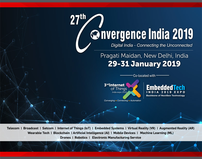 26th Convergence India 2018 expo & 2nd IoT India expo  2017 - Brochure Download Page 1