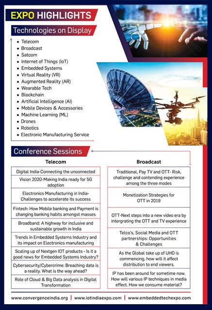 Expo Details - 26th Convergence India 2018 - 07-09 March 2018, Pragati Maidan, New Delhi, India