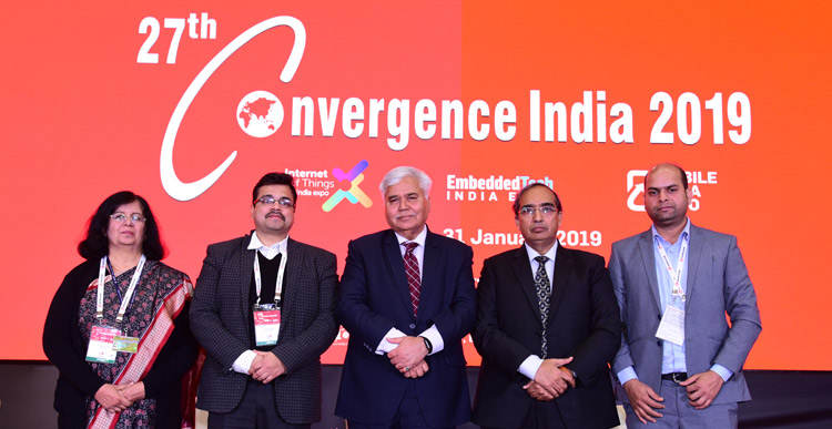 27th Convergence India 2019 expo, the 3rd Internet of Things 2019 expo, and EmbeddedTech India 2019 expo opens with a special address by Union Minister for Commerce & Industry, Shri Suresh Prabhu